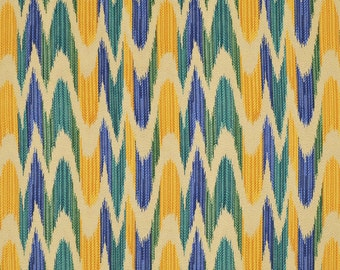 CLARENCE HOUSE ETHNIC Woven Warp Bargello Fabric 5 Yards Cobalt Turquoise