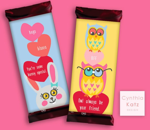 Kids valentines day hershey bar wrapper chocolate bar for Valentine candy bar wrapper templates