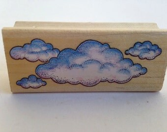 Big Fluffy Clouds - Card Making - Rubber Stamp - Vintage~ 161223 161012C