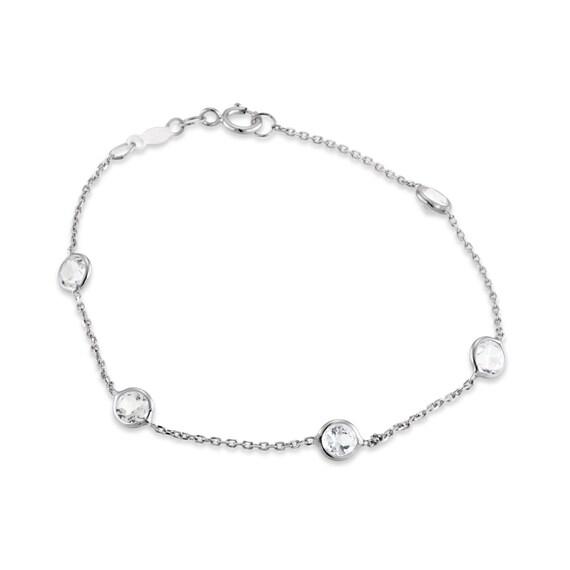 Diamond by the Yard bracelet topaz bracelet bezel bracelet
