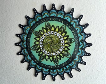 """The Elpis Sticker by Omnia Prints - Beautiful, 3"""", Hand Drawn, Digitally Colored, High Quality Gloss Laptop Sticker"""