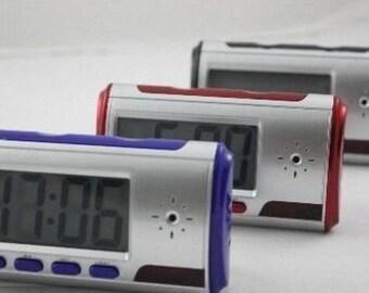 Spy Hidden Camera Clock hd Digital Alarm Clock Motion Detector Sound Recorder Digital Video pc With Remote Control