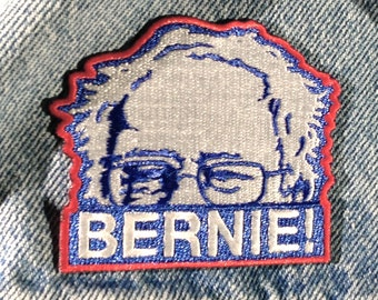 """Bernie Sanders Iron on Embroidered Patch 3"""" by 2.5""""  and Free Sticker"""