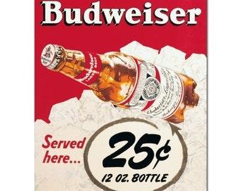 """2"""" x 3"""" Magnet Budweiser Poster FRIDGE MAGNET Locker MAGNET"""