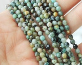 4mm African Turquoise Faceted A quality green beads