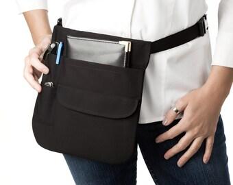 Money Pouch -Waitress Half Apron includes Adjustable Web Belt - Quality Built to Last!!!!  USA