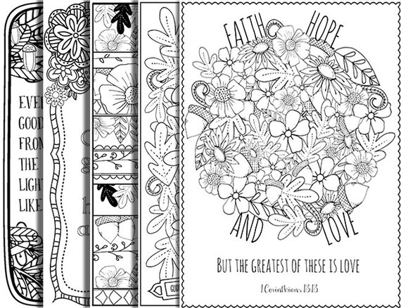 Printable Coloring Pages For Adults With Quotes : 23 pack bible verse coloring pages inspirational quote diy