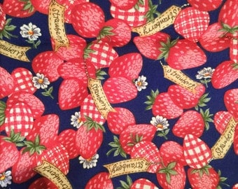 Half a yard of strawberry material