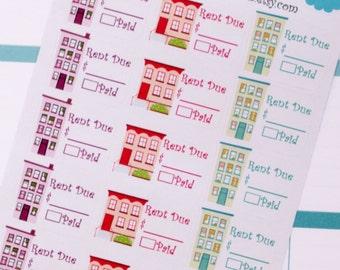 Rent Reminder Planner Stickers - 15 Count - eclp