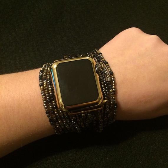 Apple Watch Band Bracelet Beaded Boho Band Large