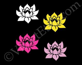 Lotus Flower Decal-Flower Sticker-Yeti Decal-Laptop Decal-Window Sticker