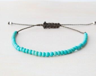 Turquoise bracelet, tiny turquoise bracelet, blue turquoise bracelet, small turquoise bracelet, aqua bracelet, blue dainty bracelet