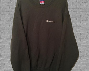 SALE Vintage Champion Crewneck Sweatshirt Brown XL