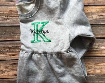 Personalized Girls Bubble Sweatshirt
