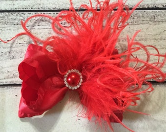 Red Boutique Bows Valentine Hair Bow Holiday Hair Bow Girls Hair Bows Toddlers Hair Bow Baby Headband Christmas Hair Bow