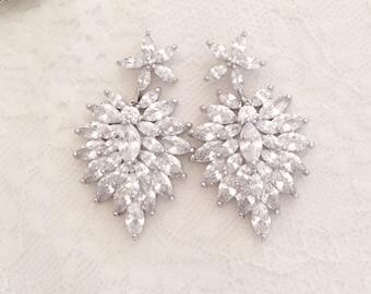 Harper' Crystal bridal earrings