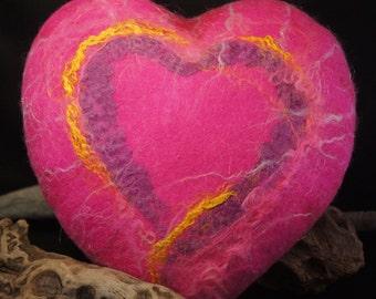 Felt Heart Cushion