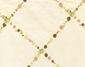 Embroidered dots, metalli...