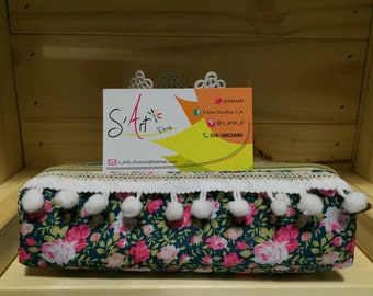 Beautiful pencil case with flower design