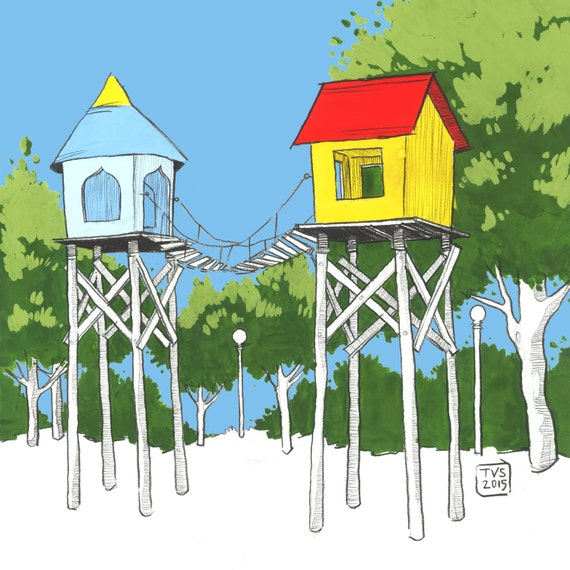 Day 21 Print: Little big houses