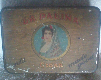 Antique La Palina Cigar tin