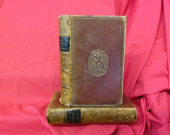 The Iliad of Homer Volumes II - III translated by James Kennedy. Leatherbound. Genuine Antiquarian 1833 editions