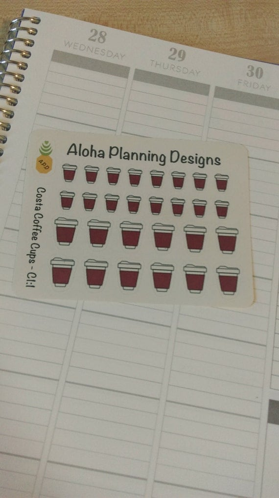 c1 1 costa coffee cup stickers mixed by alohaplanningdesigns. Black Bedroom Furniture Sets. Home Design Ideas