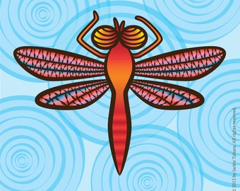 DRAGONFLY Insect ART PRINT-Dragonfly Archival Print-Insects-Bugs-Made in Canada
