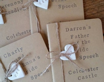 Personalized Speech Book ~ Father of the Bride Speech ~ Maid of Honor Speech ~ Bridesmaid Gift ~ Father of the Bride Gift