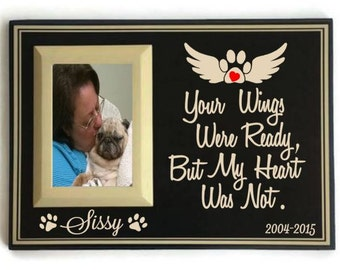 Pet memorial frame - dog memorial picture frame -  pet loss gift -  dog sympathy frame - dog memorial - pet remembrance - pet loss frame