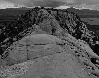 Near Ghost Ranch, Abiquiu, NM-Storm In Chama Valley, Lake Abiquiu area - 0347 bw