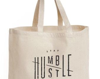 YUGEN Hustle Humble Canvas Tote Bag