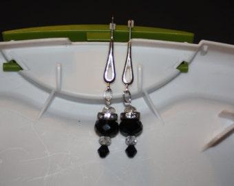 Open Teardrop Drop Earrings