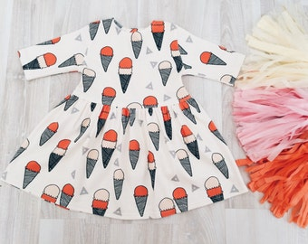 "Sale! Organic Baby Dress ""Ice-cream"" FREE WORLDWIDE SHIPPING!"