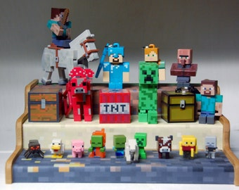 Display Stand for Minecraft Action Figures