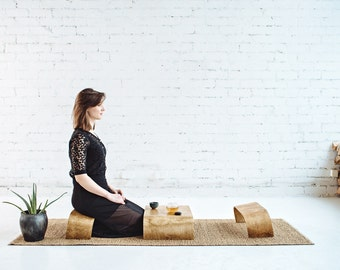 Hand Crafted Mini Table KIT- ZenWork. 1 Table + 2 Benches