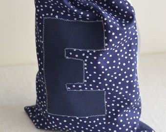 Fabric bag with letter - Custom