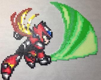 Megaman X Zero Perler