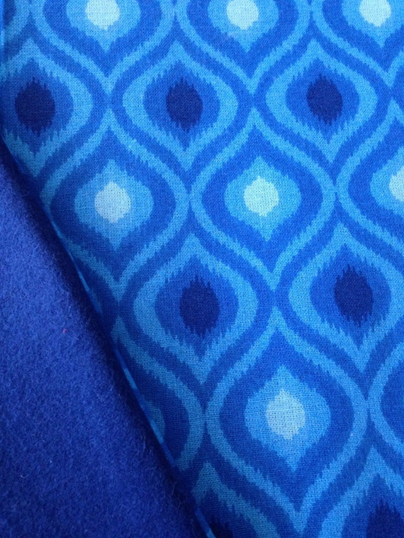 Washable Weighted Blue Moroccan Lap Pad Small Blanket Travel