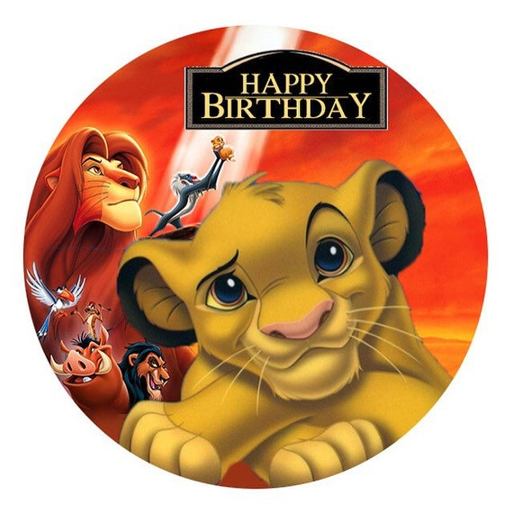 The Lion King Edible Image Real Icing Personalised Cake Topper