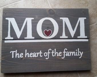 Unique rustic Mom pallet sign
