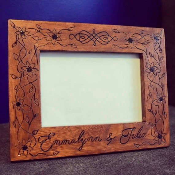 ... Picture Frame - Rustic Custom Picture Frame - Custom Wedding Frame