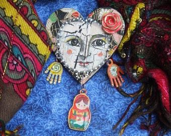 Matryoshka Art Doll Brooch