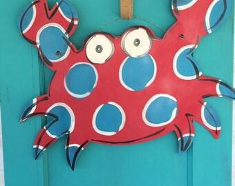 Wooden Crab Doorhanger