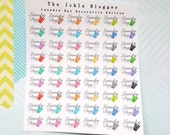 Laundry Day Chore Planner Stickers Decorative Edition
