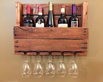 Reclaimed Wine & Glass Rack