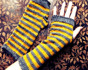 Armwarmers - Grey & Gold