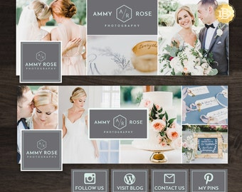 Facebook Timeline Cover Template Design, Facebook Tab Image Template, Facebook Cover Template for Photographer - INSTANT DOWNLOAD - FC002