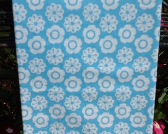 Blue and White Circle Tea Towel