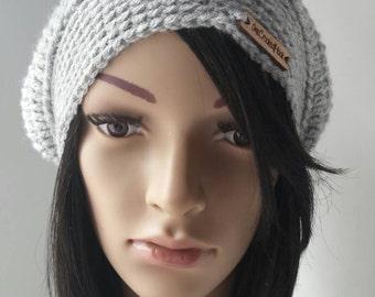 Crochet Slouchy Hat; Adult